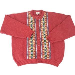 Chipie French Vintage Retro Wool Tribal Cardigan